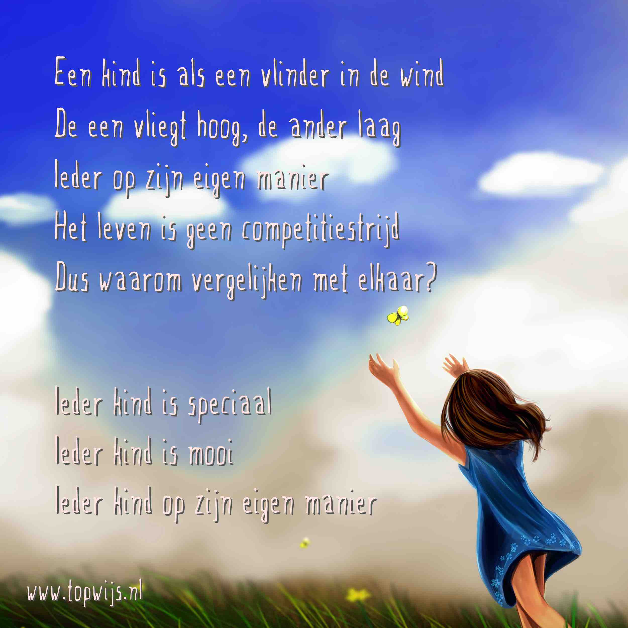 Een kind is als een vlinder in de wind