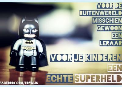 Leraar: Voor je kinderen een echte superheld!