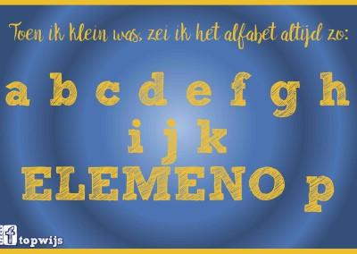 Het alfabet: ELEMENO