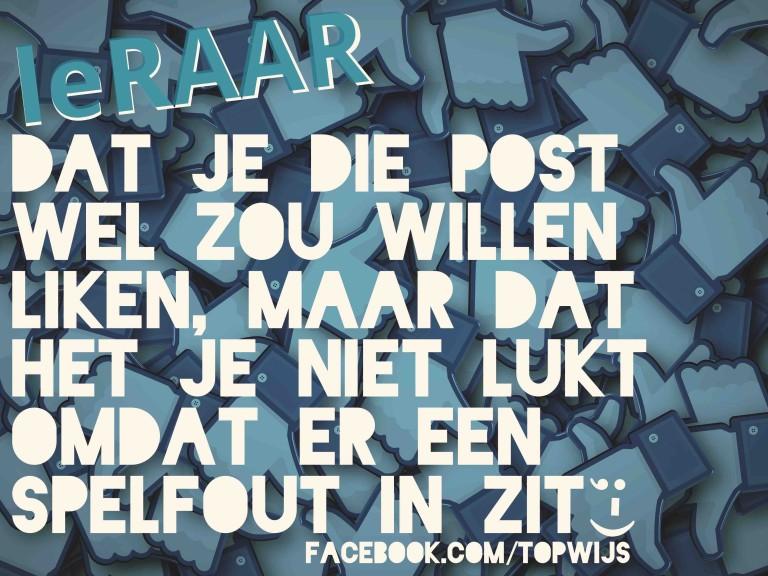 leRAAR: Taalfouten op Facebook