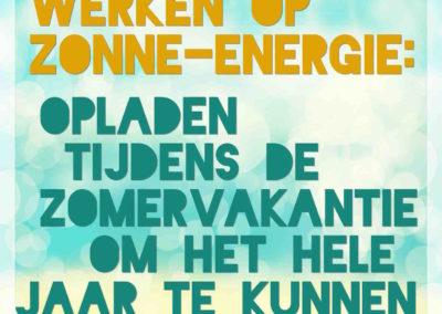 Leraren werken op zonne-energie:  Opladen tijdens de zomervakantie om het hele jaar te kunnen stralen