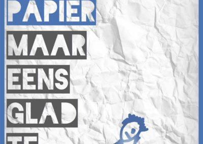 Poster over pesten: Verkreukeld papier