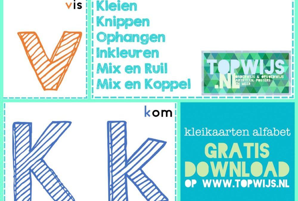 gratis download kleikaarten alfabet