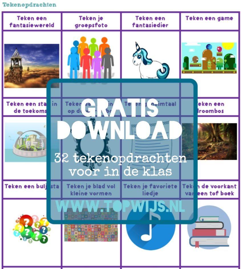 gratis download 32 tekenopdrachten