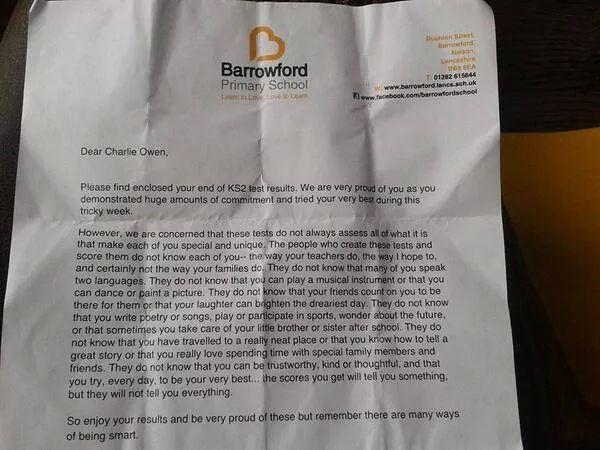 Brief Plateau Assen: De brief die je elk kind gunt.