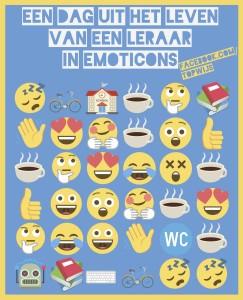 Download de gratis poster: Een dag uit het leven van een leraar in emoticons