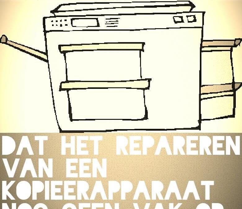 leRAAR: Dat het repareren van kopieerapparaten nog geen vak op de pabo is...