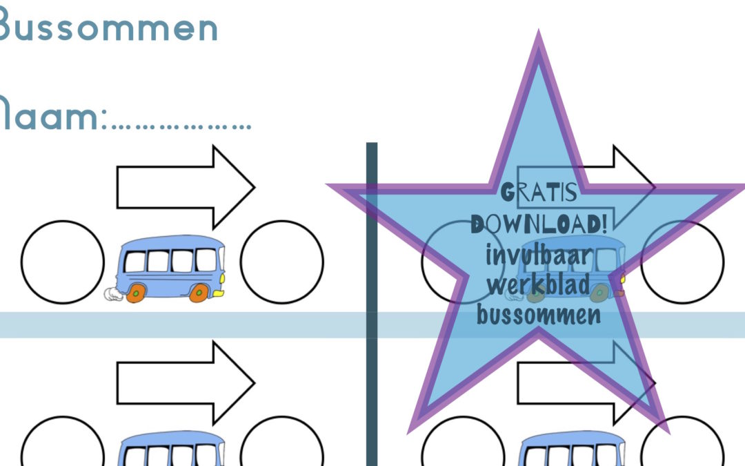 Download hier gratis: Invulbaar werkblad bussommen! Helemaal zelf aan te passen! www.topwijs.nl