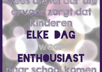 Enthousiast naar school