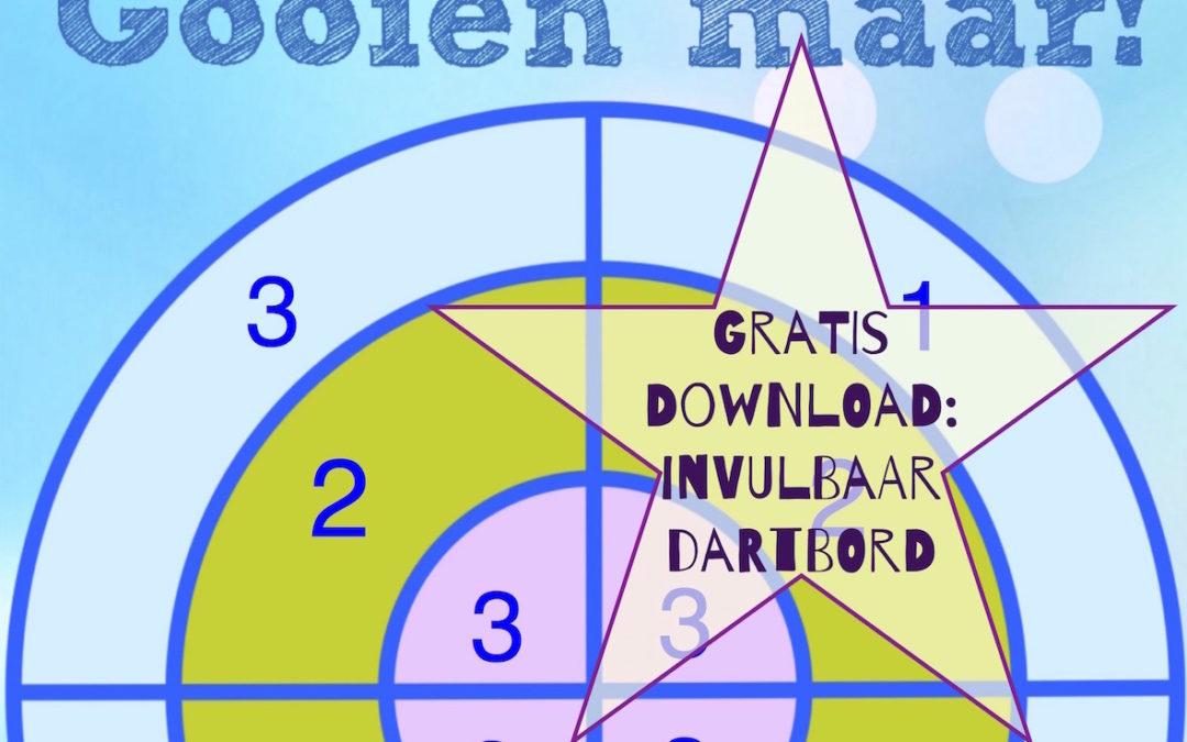 Gratis download: invulbaar dartbord voor sommen