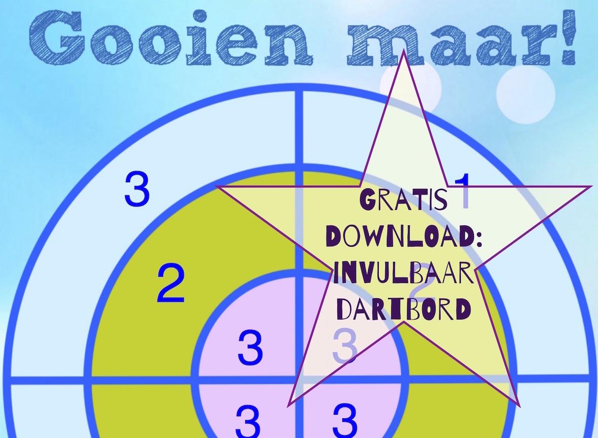 invulbaar werkblad dartbord sommen: Gratis download