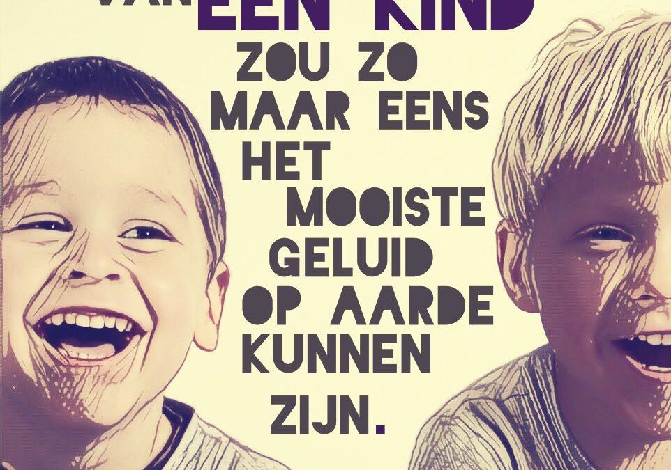 De lach van een kind