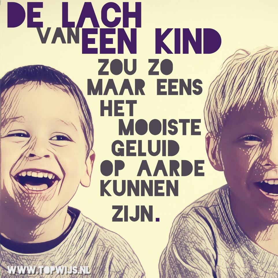 De lach van een kind zou zo maar eens het mooiste geluid op aarde kunnen zijn