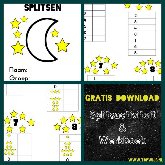 Splitsen werkblad - Splitsen werkboek - Splitsen kleuters - Splitsen groep 2 - Splitsen groep 3