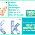 gratis download kleikaarten alfabet