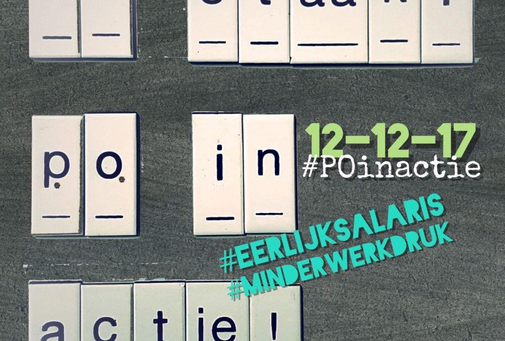 #POinactie 12 december staking Basisonderwijs