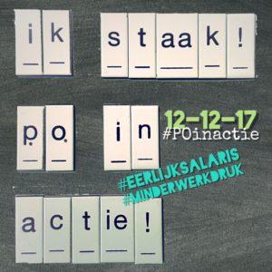 Ik staak 12 december #POinactie #onderwijs #staken