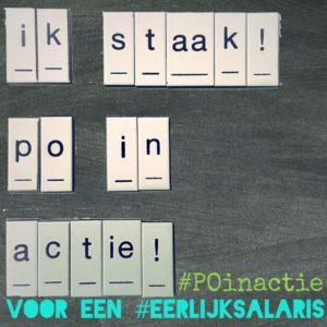 Ik staak #POinactie onderwijsstaking