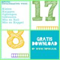 Gratis download: Cijferkaarten / Stempelkaarten / Cijfermuur