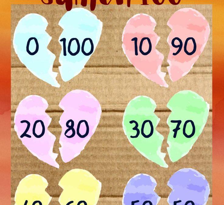 Smoorverliefde harten: Download hier de poster Verliefde harten tot 100 - tientallen