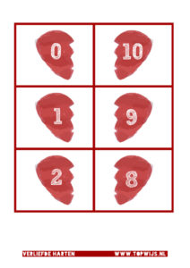 Verliefde harten kaarten voor mix en koppel of mix en ruil