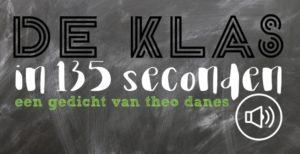 De klas: Een gedicht van Theo Danes (uit de bundel: Personal Best). Over differentiëren, alle rugzakjes in de klas en de verschillende soorten leerlingen in een groep.