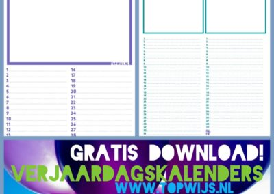 Verjaardagskalender download