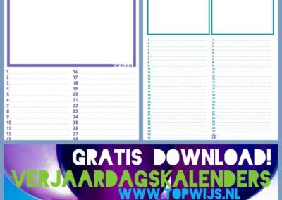 Verjaardagskalender download